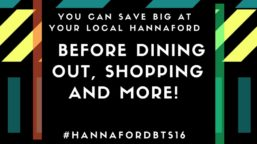 before dining out, shopping and more! #HannafordBTS16 #sponsored
